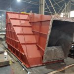 carbon steel shell for fan housing unit