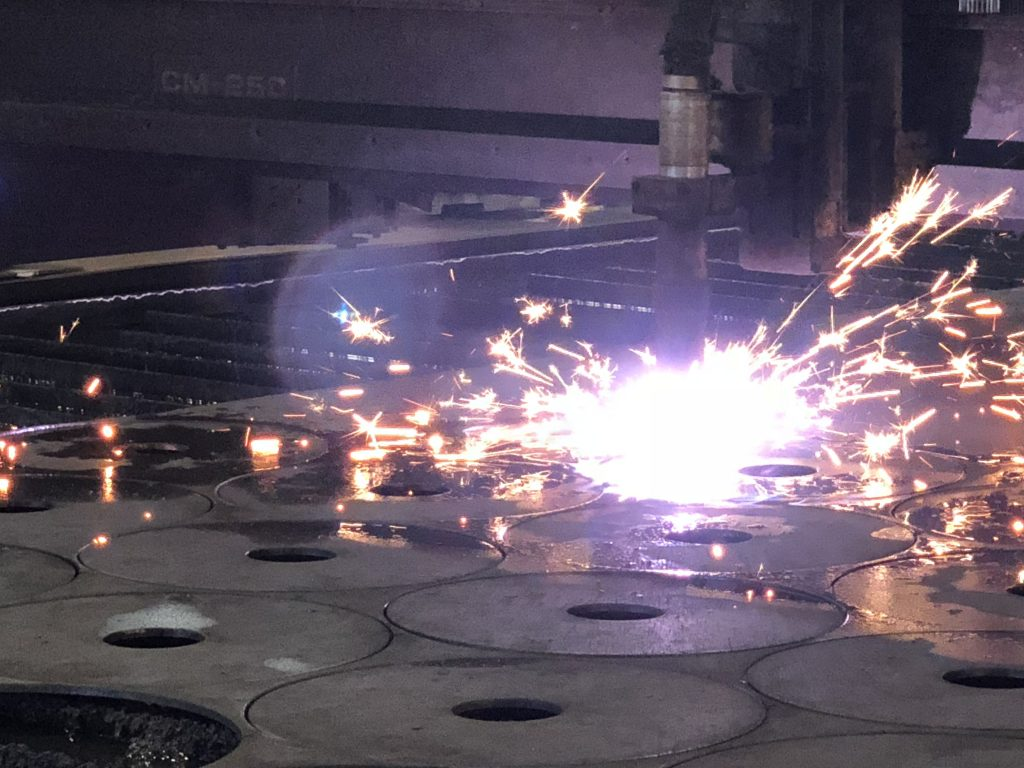 plasma burn steel